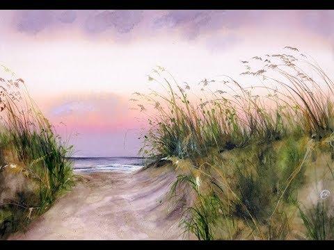 Seaside Watercolor Painting Demonstration