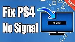 FIX PS4 NO VIDEO SIGNAL & EASY BLACK SCREEN HDMI RESOLUTION RESET (BEST METHOD)