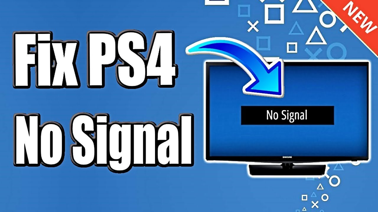 FIX PS4 NO VIDEO SIGNAL & EASY BLACK SCREEN HDMI RESOLUTION RESET (BEST  METHOD)