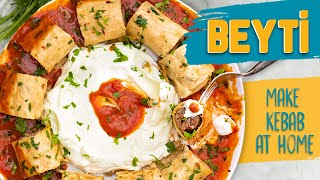 How to make BEYTI KEBAB AT HOME!   Heavenly combo: Kebab  Lavash  Yoghurt Tomato Sauce