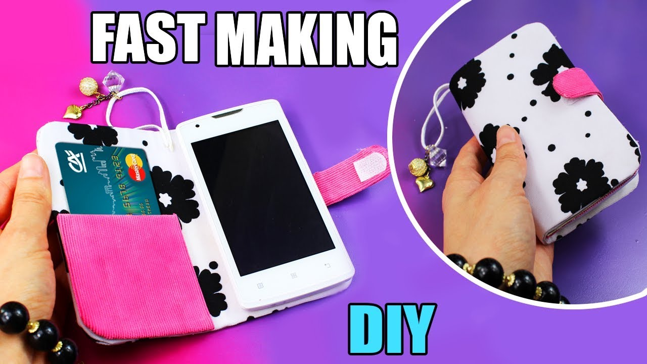 best cheap 86901 86c9a DIY FLIP PHONE CASE NO SEW & FAST WAY TO MAKE WITH CREDIT CARD HOLDER