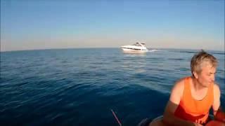 Рыбалка с лодки на бычка  Черное море