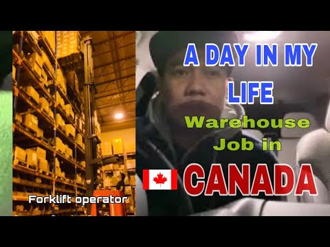 A DAY IN THE LIFE | Warehouse Worker In Canada. KABANATA UNO |BUHAY CANADA |PINOY IN CANADA