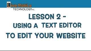 LESSON 2 - Building a Website for Beginners - Installing a Text Editor