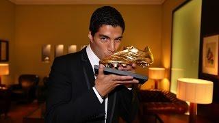 Luis Suárez recibe la Bota de Oro 2013/14