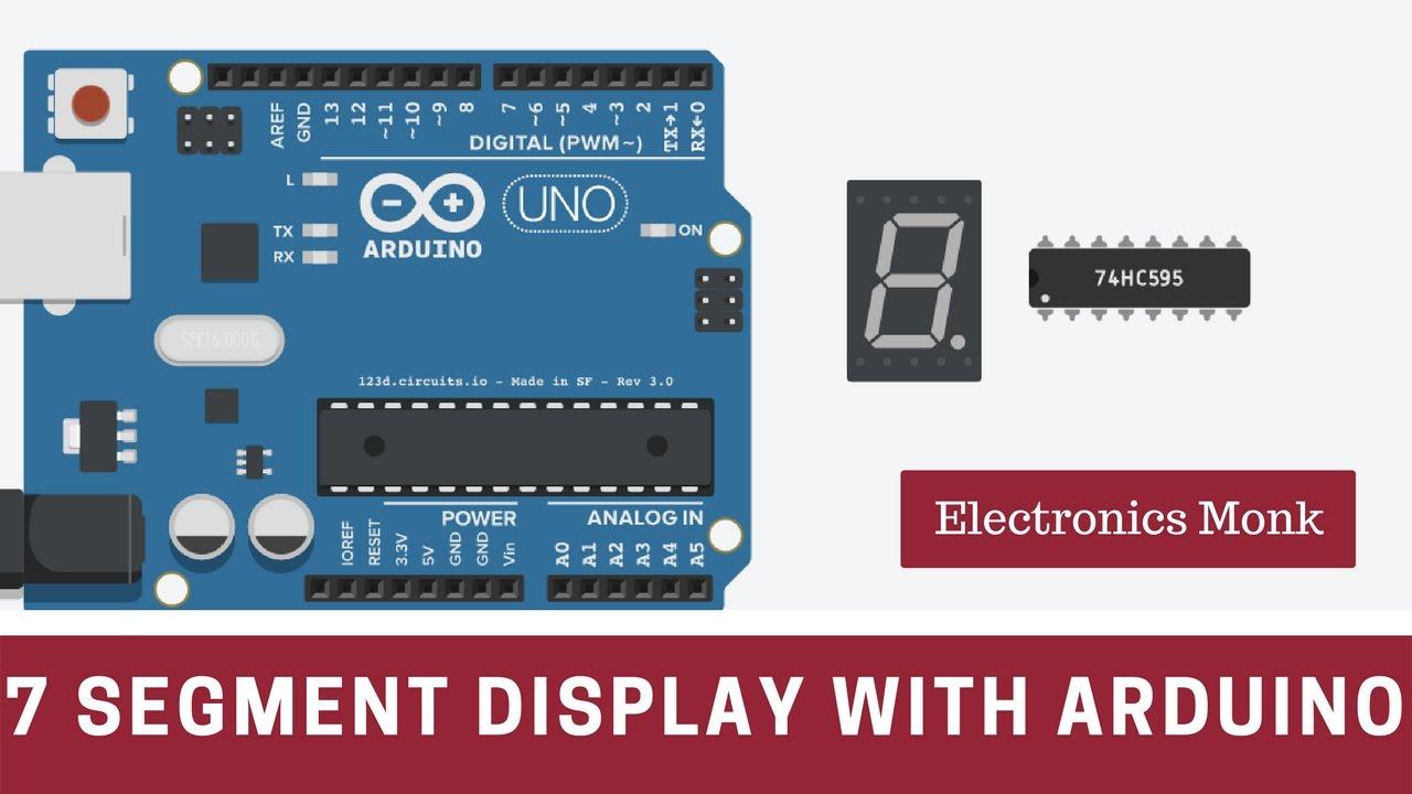 Segment led display with arduino youtube