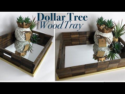 Dollar Tree DIY Wooden Mirror Tray | DIY Vanity Tray