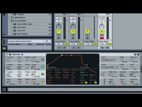 Fm synthesis in Ableton Operator