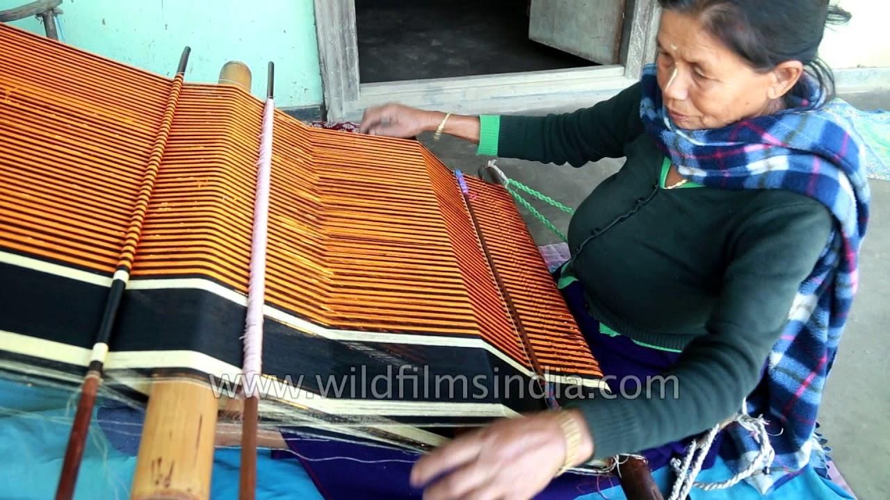 Phige Phanek Silk Weaving An Important Part Of Manipuri Bridal Trouseau Youtube