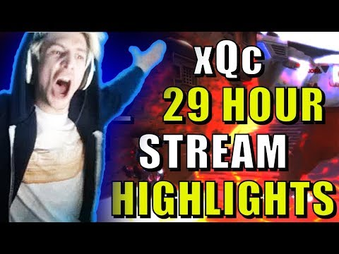 xQc 29 Hour Stream Highlights! | Best and Funny Moments!