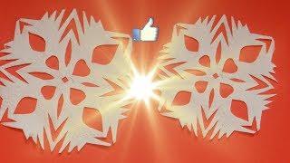Самая простая снежинка из бумаги на Новый год  свиньи поросёнка