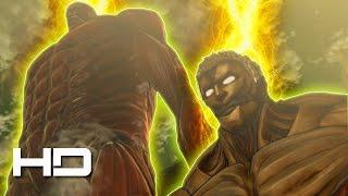 ATTACK ON TITAN (PC) Season 2: Titan Eren VS The Armored Titan & Colossal Titan (English Sub) HD
