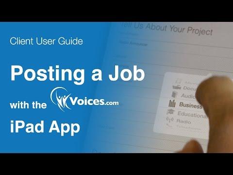 Posting a Job Using the Voices.com iPad App