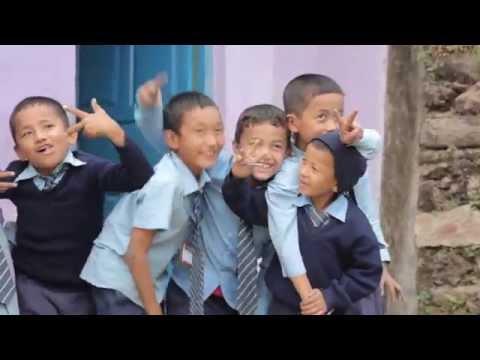 Students at the Suria Boarding School in Khandbari, Nepal