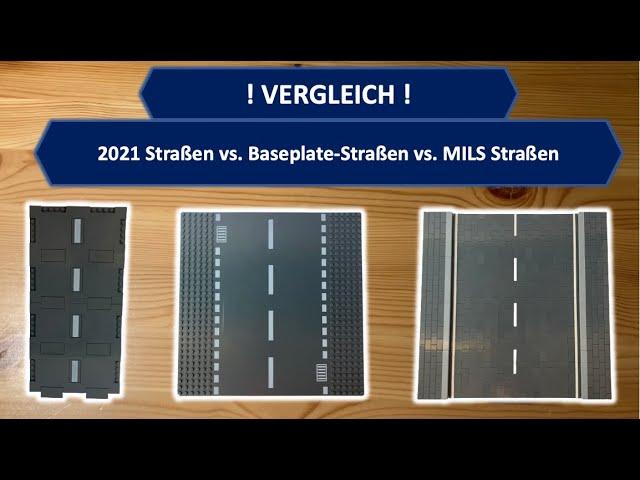 LEGO 2021 Straßen vs. Baseplate Straßen vs MILS Straßen - Der Vergleich