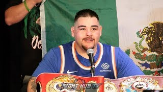 ANDY RUIZ'S IMMEDIATE REACTION AFTER KNOCKING OUT ANTHONY JOSHUA IN SHOCK UPSET!