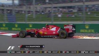 F1 2015 Russian GP Valtteri Bottas and  Kimi Raikkonen Crash