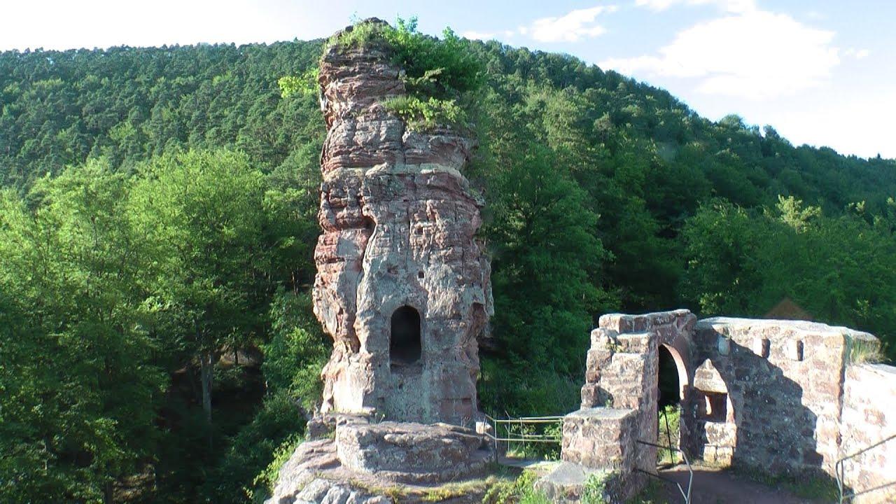 Burgruine Frönsburg - Burgentour Wanderung Pfälzer Wald ...