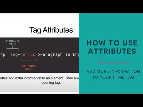 How To Use Tag Attributes When Coding With HTML/CSS