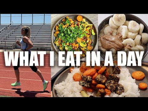 WHAT I EAT IN A DAY // MARATHON TRAINING *plant-based*