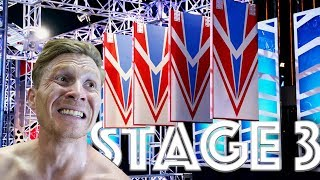 How difficult is STAGE 3 in NINJA WARRIOR #164