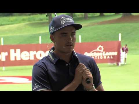 PGA Golfer Rickie Fowler Takes A Shot for Heroes at Quicken Loans National
