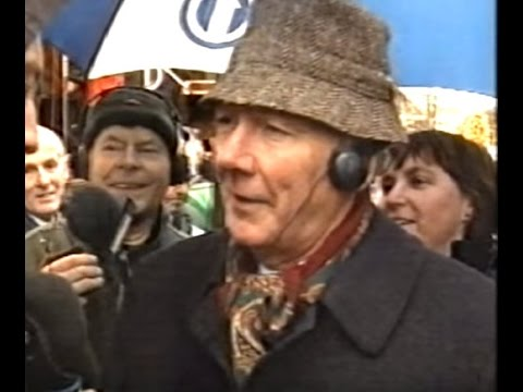 Gay Byrne broadcasting on last Day of his RTE1 radio show 1998