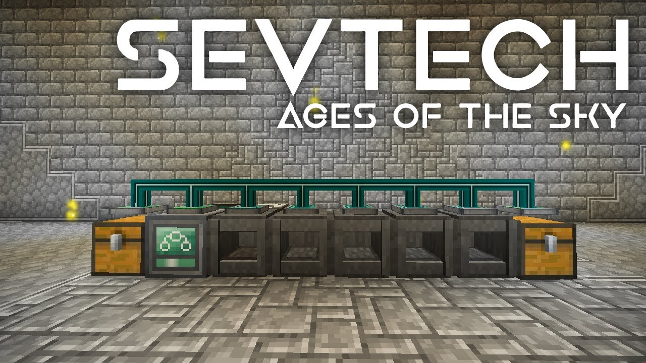 SevTech: Ages of the Sky Ep. 55 AE2 Processor Automation With Xnet