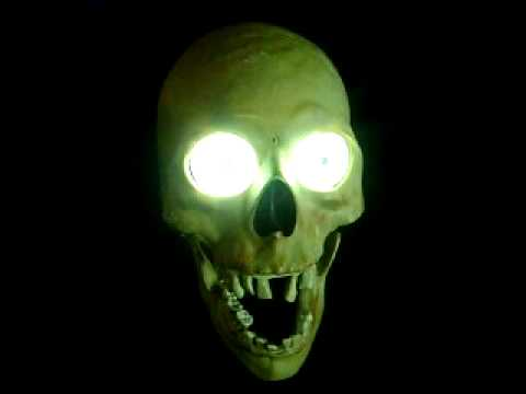 scary skull animated - youtube