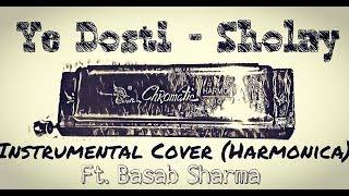 YE DOSTI - Instrumental Cover(Harmonica)|| Ft. Basab Sharma || Sholay || Kishore Kumar || Manna Dey