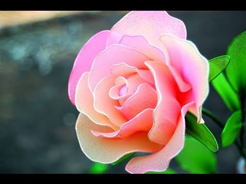 How To Make a Rose from Nylon Stocking