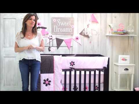Pam Grace Creations Pam's Petals 10-Piece Baby Bedding Set