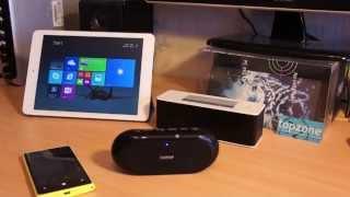 Mobili bluetooth audio sistema: Edifier MP211 ir Microlab MD-215