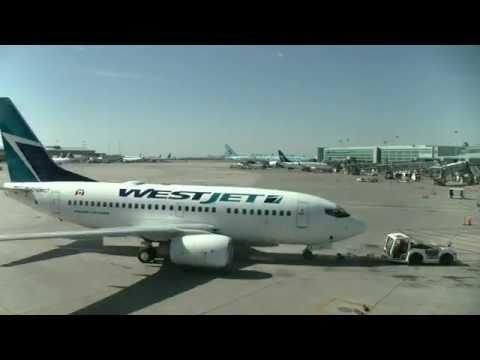 Time lapse Toronto Pearson International Airport YYZ - WESTJET