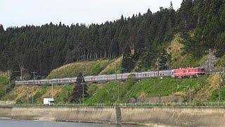 5月14日朝に上野駅を発車した『カシオペア』試運転はEH800-9...