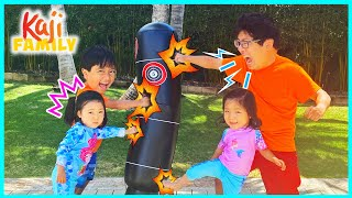 We train to be strong and more fun kids activities!