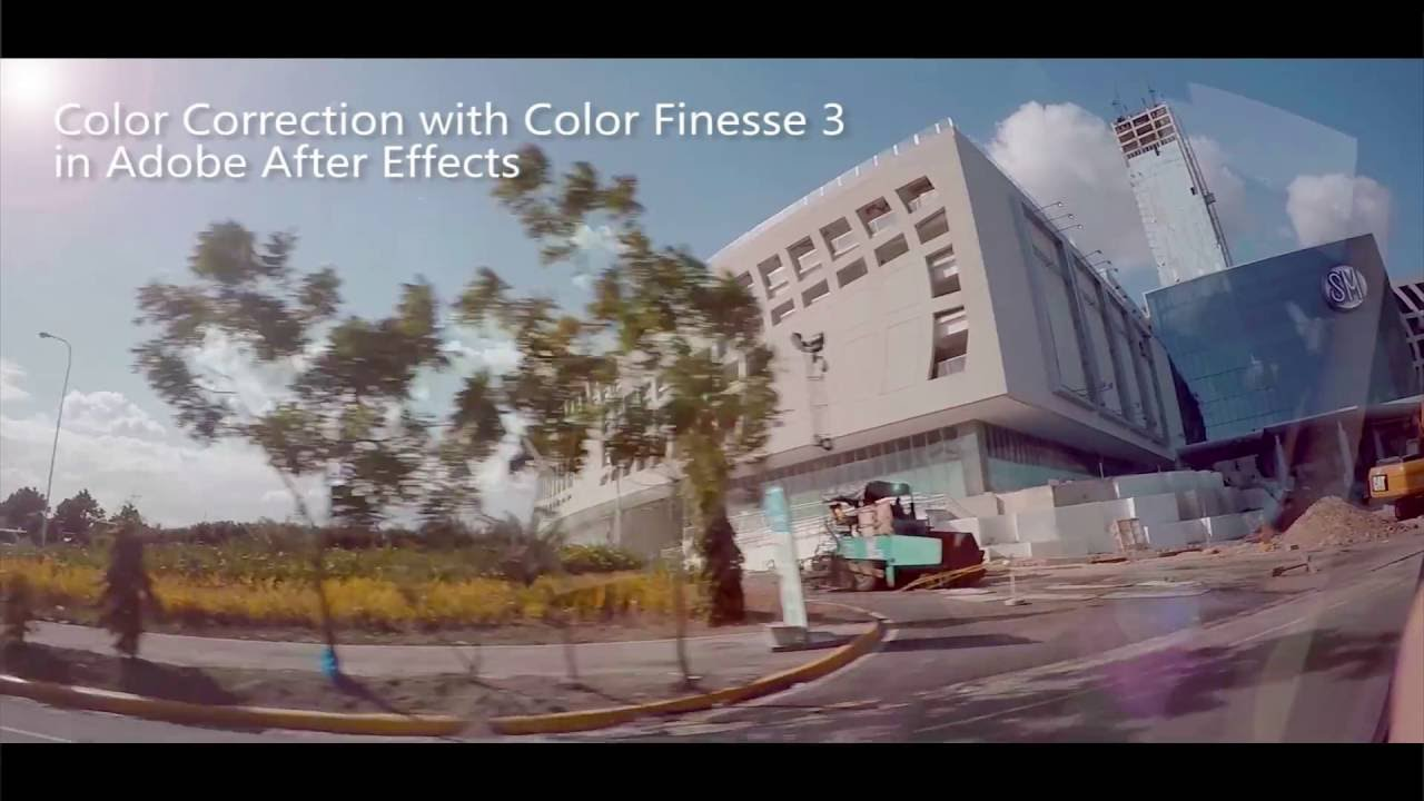 GoPro Hero 4 Silver Protune Color Correction Grading with Color Finesse 3  in Adobe After Effects