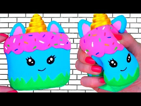 DIY TAPE SQUISHY 😱  How to make a CUTE squishy with sponge