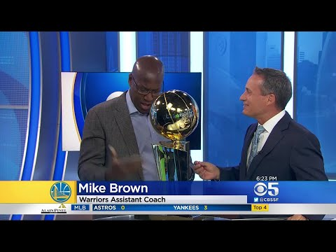 Golden State Warriors Coach Crashes KPIX Sportscast