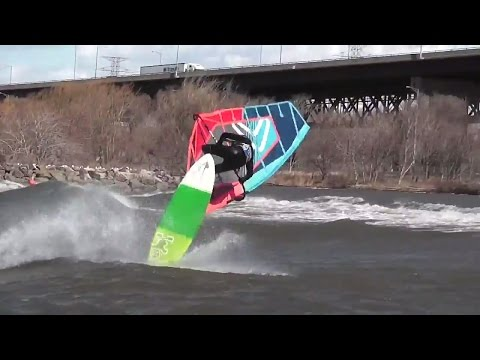 Windsurfing in 100KM/H winds looks more like torture than fun