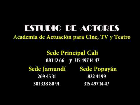 ESTUDIO DE ACTORES  Academia de Actuación para Cine TV y Teatro  Comercial  1