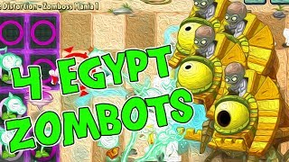 Plants vs Zombies 2 Epic Hack : ALL Egypt Zombies with 4 Zombots vs Electric Peashooter