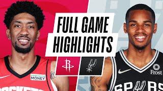 ROCKETS at SPURS   NBA PRESEASON FULL GAME HIGHLIGHTS   October 15, 2021