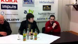 Gambar cover EISHOCKEY-MAGAZIN.de: Pressekonferenz Augsburger Panther - Hamburg Freezers