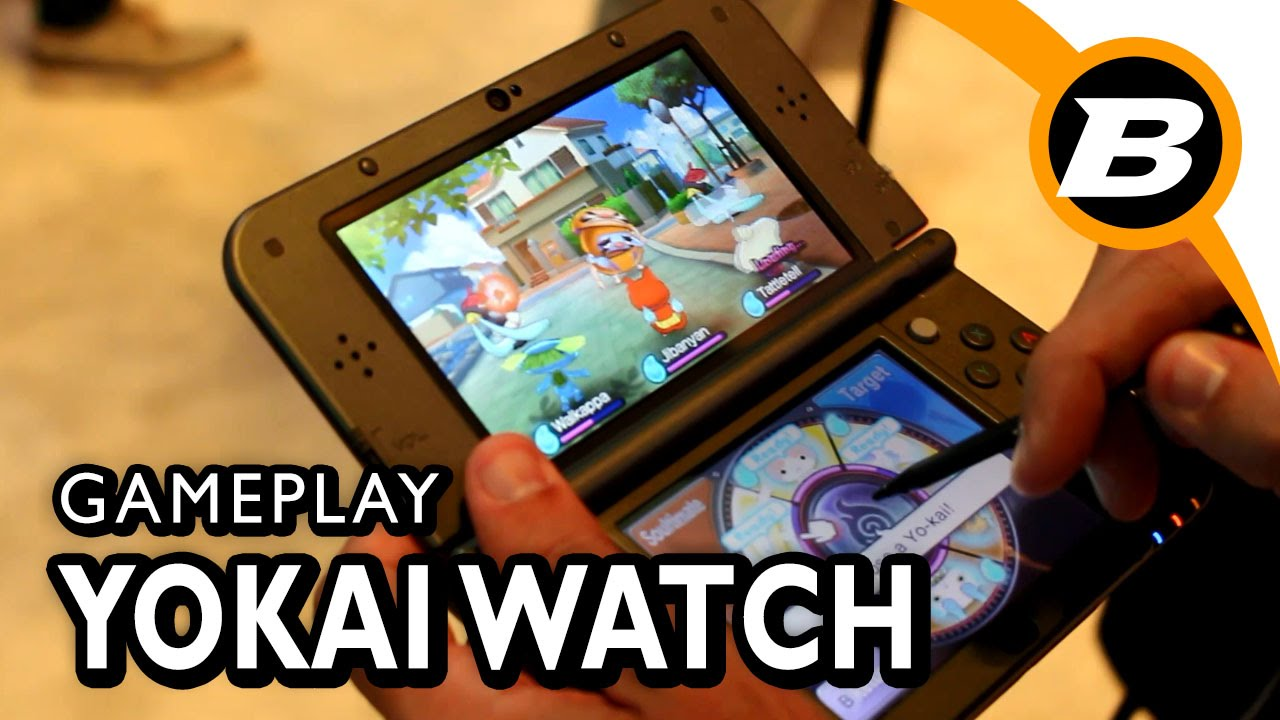 gameplay yokai watch 3ds e3 2015 sem coment rios youtube. Black Bedroom Furniture Sets. Home Design Ideas