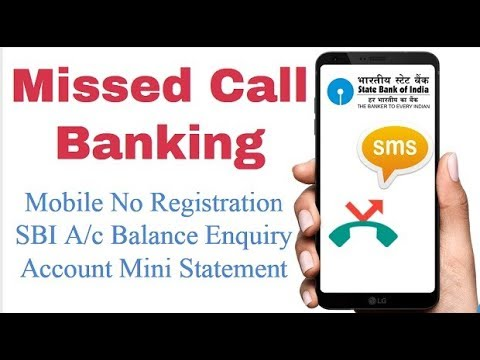 SBI Missed Call Balance Enquiry System 2018 🔥|| Missed call Banking