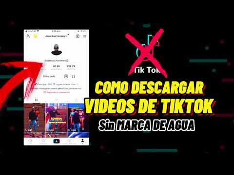Cómo DESCARGAR VIDEOS DE TIKTOK Sin MARCA DE AGUA ✖️ en IPhone & Android 🚨 2021