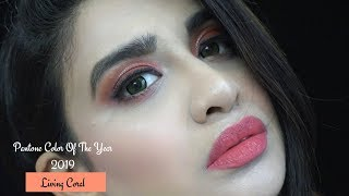 Pantone Color Of The Year 2019 Inspired Makeup Tutorial|Living Coral