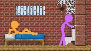 Download Stickman in Minecraft: PRISON ESCAPE - AVM Shorts Animation Mp3 and Videos