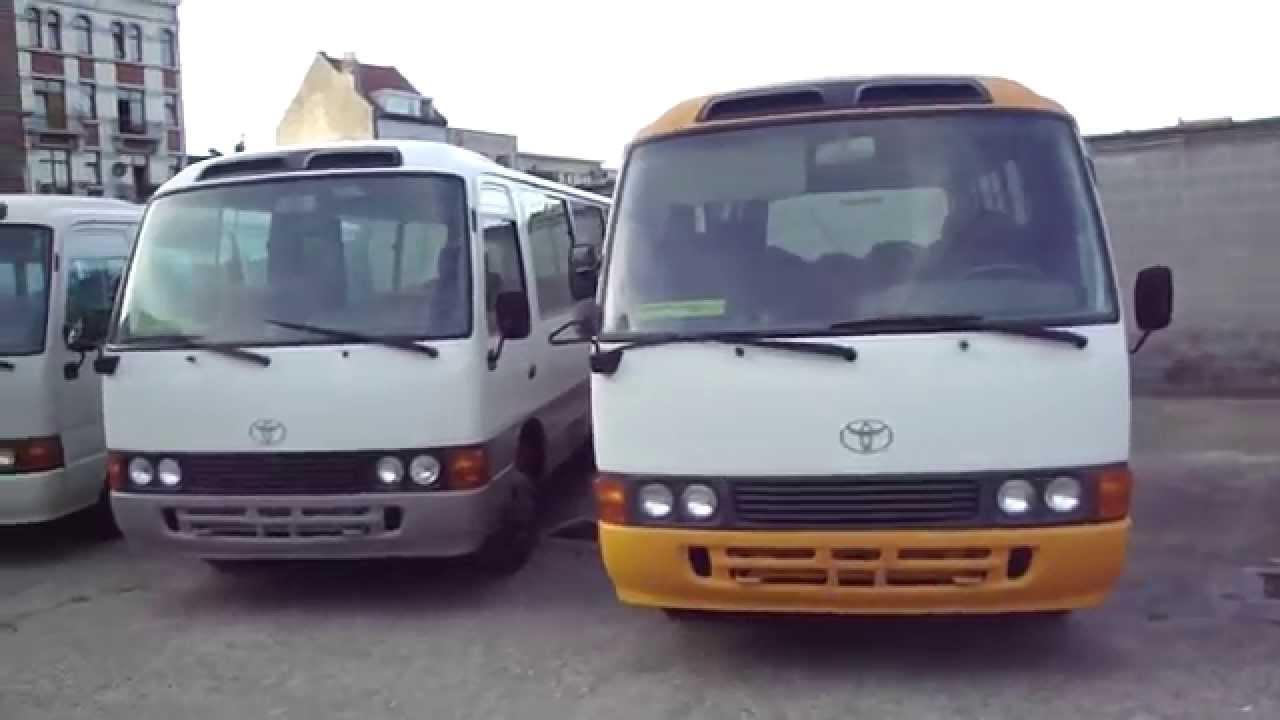 toyota coaster bus belgique youtube. Black Bedroom Furniture Sets. Home Design Ideas